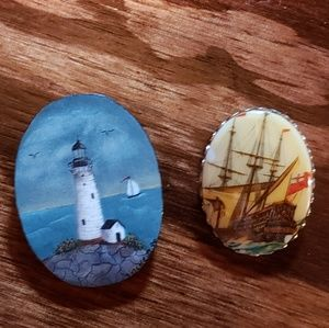 Jewelry - Nautical set of 2 brooches